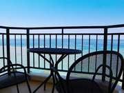 ホテル日航アリビラ バルコニーから見える海