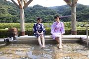 ホテルおかだ 湯坂山を望む絶景の足湯