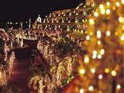 カヌチャベイホテル&ヴィラズ 夜はイルミネーションがキレイ
