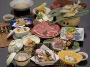 不死王閣 夕食の一例