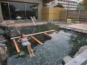 びわこ緑水亭 大浴場にある露天風呂も広々