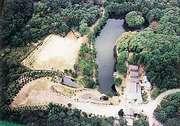 ログペンション映山湖 空から見た景色